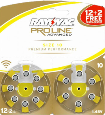 Батарейки №10 Rayovac для слуховых аппаратов