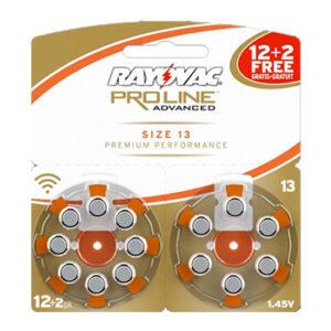 Слуховые батарейки Rayovac Proline №13 (+2 бесплатно)