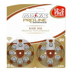 Слуховые батарейки Rayovac Proline №312 (+2 бесплатно)