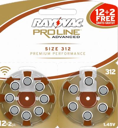 Батарейки №312 для слуховых аппаратов