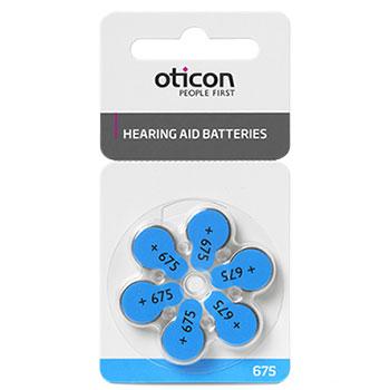 Батарейка для слухового аппарата тип 675 Oticon