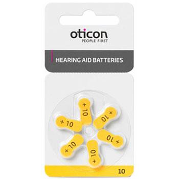 Батарейка для слухового аппарата тип 10 Oticon