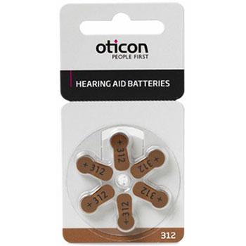 Батарейка для слухового аппарата тип 312 Oticon