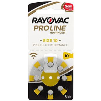 Слуховые батарейки Rayovac Proline 10 для внутриканальных слуховых аппаратов