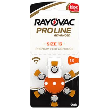 Батарейки Rayonvac Proline 13 размера для заушных слуховых аппаратов
