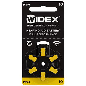 Батарейки Widex тип10 для слуховых аппаратов
