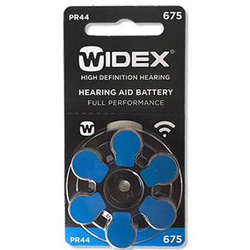 Слуховые батарейки Widex тип 675 для слуховых аппаратови кохлеарных имплантов